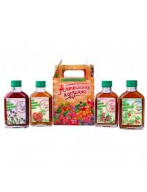 Подарочный набор, ягодные сиропы «Алтайская корзинка» №1